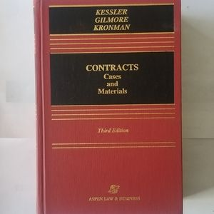 Vintage Book-CONTRACTS Cases and Materials